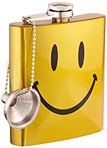 """Spoontiques Hip Flask, """"Smiley Face"""""""