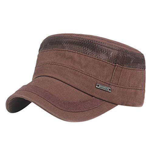 HYIRI on Foot Unisex Summer Flat Hat Outdoor Mountaineering Hat Visor Coffee