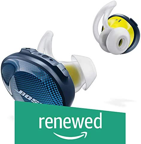 Bose SoundSport Free Truly Wireless Sport Headphones – Midnight Blue Citron Renewed
