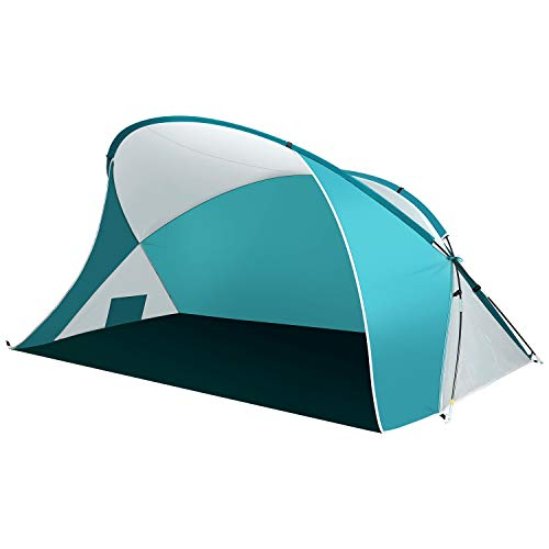 UU CAMP 5-6 People Easy Set Up Portable UPF 50+ Beach Sun Shelter for Beach Trip, Camping, Fishing