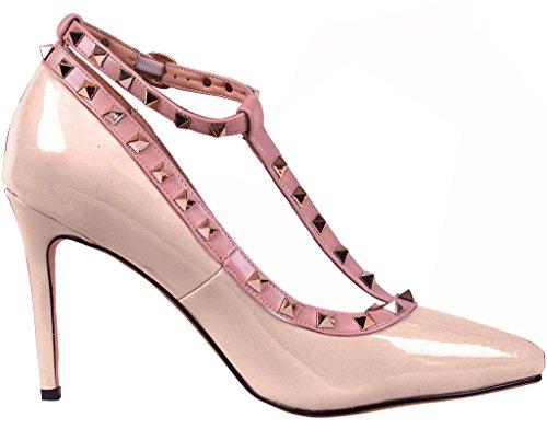 5CM Cassé Sur 8 Chaussures Glisser Femme Calaier Blanc Escarpins CAOF Aiguille SvHw6BqT4q