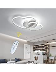 Dimbare led-plafondlamp, modern design in hartvorm, plafondlamp van acryl, kroonluchter van metaal, voor eetkamer, plafondlamp, keukenlamp