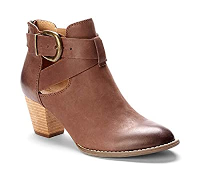Vionic Women's Upright Rory Ankle Boot - Ladies Bootie with Concealed Orthotic Arch Support Dark Brown 9.5 W US