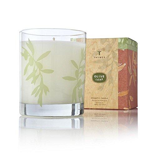 Thymes Olive Leaf Candle (Leaf Thymes Olive)