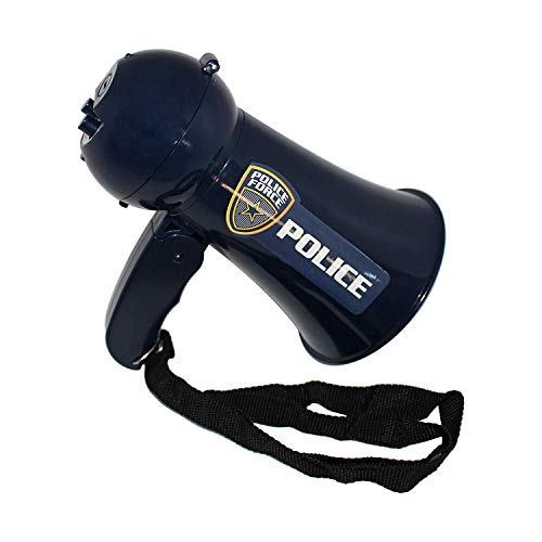 OIG Brands Police Megaphone Toy for Kids - FBI, SWAT, and Detective Costume Role Play Microphone (Batteries Included) for $<!--$14.95-->