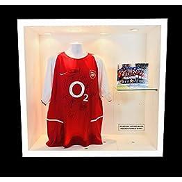 Arsenal Invincibles dédicacée Arsenal Maillot Domicile Wenger Henry Bergkamp de Pires etc.
