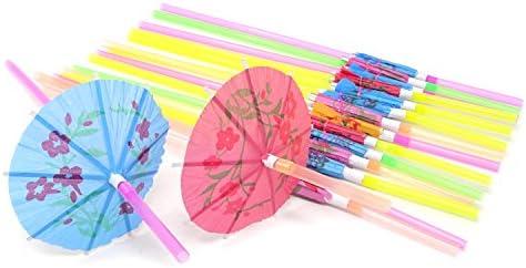 Disposable Bendable Hawaiian Umbrella Restaurants product image