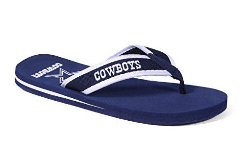 Voor Altijd Collectibles Officieel Gelicentieerde Nfl Contour Flip Flops - Blije Voeten En Comfortabele Voeten Dallas Cowboys Contour