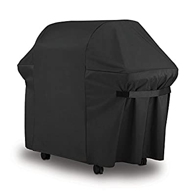 BBQ Grill Cover (57 Inch) Wenscha Waterproof Durable Barbecue Gas Cover UV Resistant Material Polyester Black from Wenshca