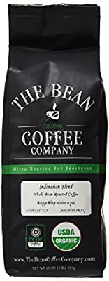 The Bean Coffee Company Organic Indonesian Blend, Medium Dark Roast, Ground, 16-Ounce Bag