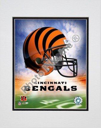 Cincinnati Bengals Helmet Logo (2004) Double Matted 8