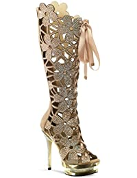 Amazon.com: Gold - Knee-High / Boots: Clothing, Shoes & Jewelry