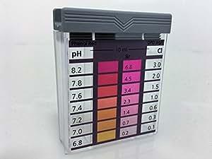 Pool tester, dispositivo de prueba, maletín de prueba para PH y cloro, piscina
