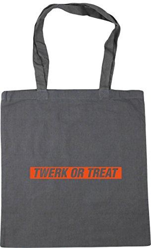 HippoWarehouse Twerk Gym Shopping x38cm Bag Tote Halloween litres or Grey Beach treat Graphite 10 42cm rrgq4U
