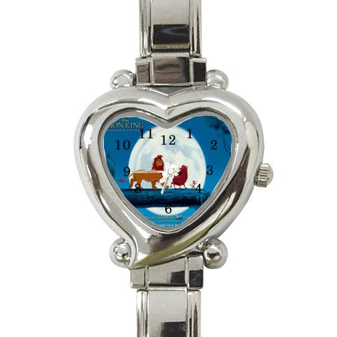 lion-king Heart Italian Charm Watch ( For Women - Lion Charm Italian