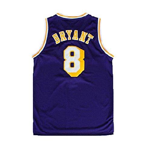 qlesseots Kid's Kobe Jerseys Los Angeles 8 Youth(Boys) Basketball Jersey Purple
