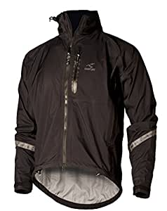 Showers Pass Men's Elite 2.1 Waterproof Cycling Jacket,Black,Small