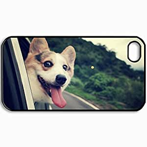 Customized Cellphone Case Back Cover For iPhone 4 4S, Protective Hardshell Case Personalized Dog Muzzle Box Car Black