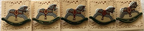 Set of Five (5) Hand Painted Rocking Horses