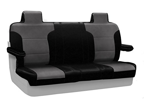 Coverking Custom Fit Solid Bench Seat Cover for Select Lincoln Town Car Models - Alcantara (Gray) ()