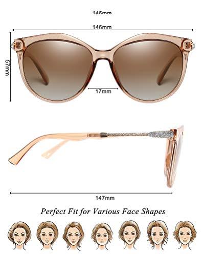 Té Sol De Gafas WHCREAT Cat Polarizadas Moda Mujer Protección Lente de Estilo Para Gris Lente 01 Marco Gradiente Eye Clásico Lente UV400 SWpWnTwqI