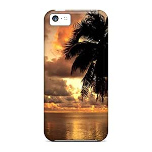 Iphone 5c Cases Covers Skin : Premium High Quality Hawaii Golden Sunset Cases