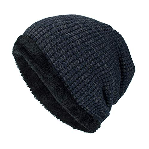 de Sombrero Tejer Sombreros Sombrero de Yying de Punto de Gorro Punto Beanie Invierno marino Caliente Snowboard Lana Hombre Gorro azul PggWqxIE