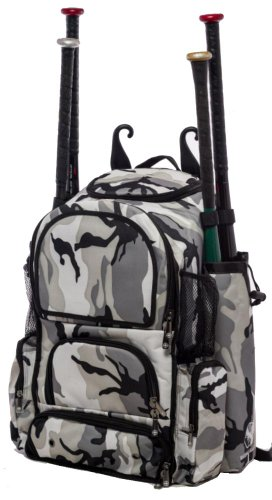 Gray Camouflage Chita M Softball Baseball Bat Equipment Backpack GYCAChitaM by MAXOPS