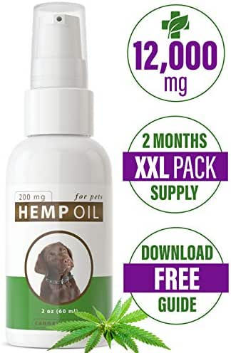Canna Medis Premium Hemp Oil for Dogs with Cancer, Anxiety, Arthritis, Pain, Seizures, Inflammation. 2 oz, Concentrated Cannabis Extract, 200 mg Per Dose, for Up to 2 Months, 100% Pure, Fast Results.