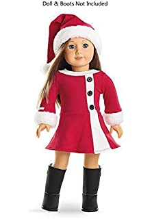 Amazon.com: 4pc Doll Clothes Santa Christmas Dress Outfit Fits 18 ...