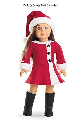 American Girl Santa Dress for 18 Dolls Christmas Outfit Hat NEW - Amazon.com: American Girl Santa Dress For 18 Dolls Christmas Outfit