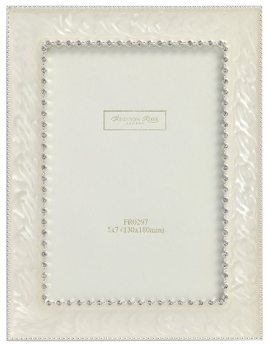 g Photo Frame, 8x10, Royal Diamante Cream Enamel, 8 x 10 Inches (Gold Enamel Portrait)