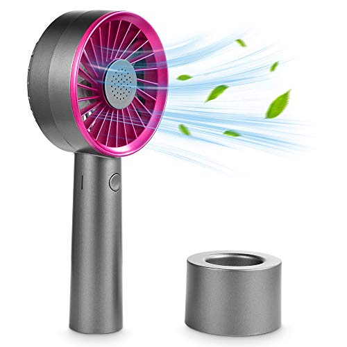Mini Fan Handheld, Handheld Fan Perfume 3 Speeds USB Electric Fan with Rechargeable Battery Operated, Hand Fan for Office Outdoor Sport Home Traveling Camping