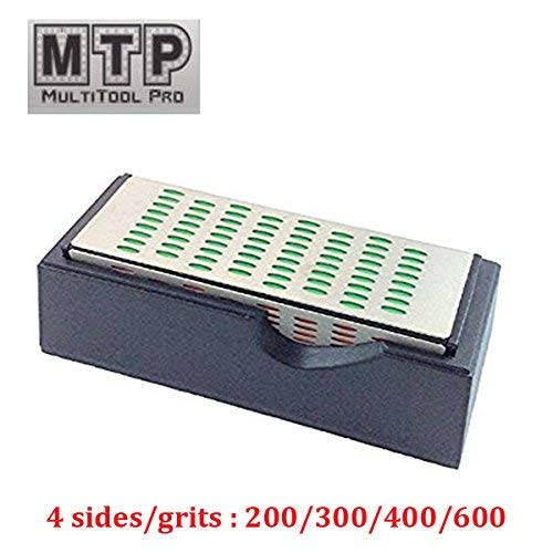 MTP 4 Sides Diamond Sharpening Hone Whetstone Stone Block Knife, Chisels, Route (Whetstone Diamond Hone)