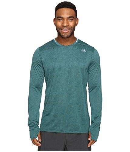 adidas Men's Running Supernova Long Sleeve Tee, Tech Green, X-Large