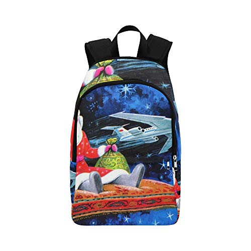 USSR Circa 1970 Postcard Printed USSR Casual Daypack Travel Bag College School Backpack for Mens and Women (Postcard Angel Christmas)