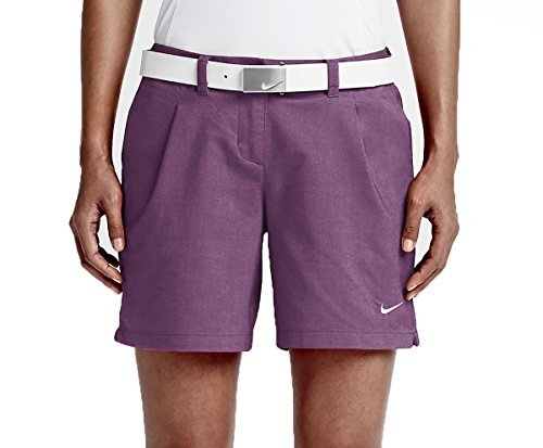 Nike Oxford Golf Shorts 2016 Womens Cosmic Purple/White 12 by NIKE (Image #1)