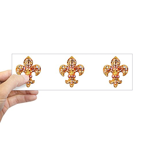 Jeweled Keepsakes (CafePress - Jeweled Fleur De Lis Bumper Sticker - 10