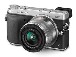 Panasonic LUMIX GX7 16.0 MP DSLM Camera with LUMIX G VARIO 14-42mm II Lens and Tilt-Live Viewfinder (Silver)