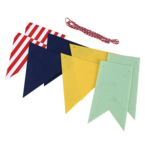 Tinksky Decorative Garland Banner Birthday Party Flags Baner for wedding Festivals Parties Decoration (Red White -