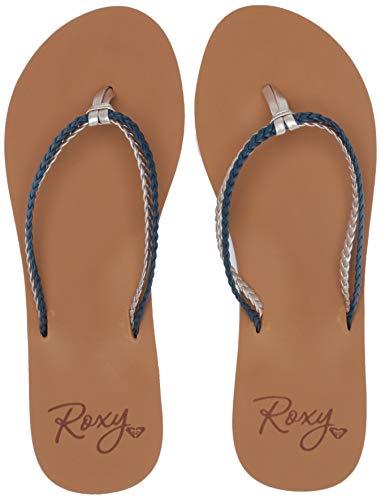 Roxy Women's Costas Sandal Flip-Flop, Navy, 6 Medium US ()