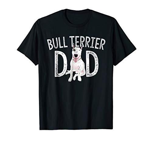 Mens Bull Terrier Dad Shirt Bull Terrier Lover Gift Dog Owner - T-shirt Terrier Black Bull