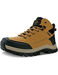 MAYZERO Men's Snow Boots Construction Boots Work Shoes Winter Anti-Slip Ankle Booties Backpacking Boots Hiking Boots for Men