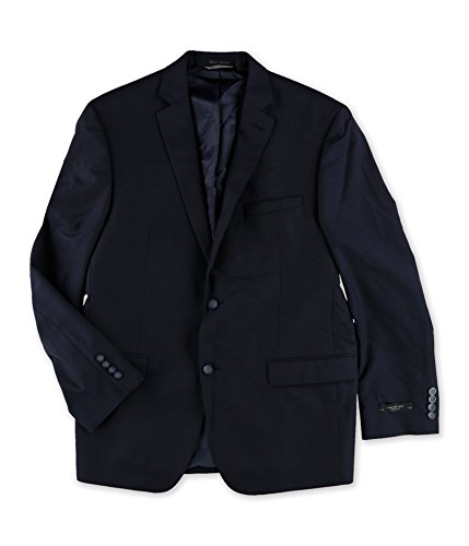 Marc New York Mens Textured Two Button Blazer Jacket, Blue, 42 Regular ()
