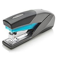 Grapadora Swingline, Optima 25, grapadora de escritorio de tamaño completo, capacidad de 25 hojas, esfuerzo reducido, azul /gris (66404) - SWI66404