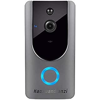 Smart Wireless WiFi Video Doorbell hd Security Camera with pir Motion Detection Night Vision Two-Way Talk and Real-time Video 2.4Ghz WiFi