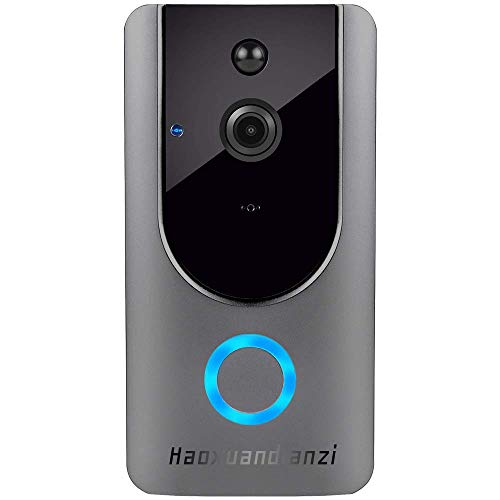Smart Wireless WiFi Video Doorbell HD Security Camera with PIR Motion Detection Night Vision Two-Way Talk and Real-time Video Haoxuandianzi (Wifi Doorbell Intercom)