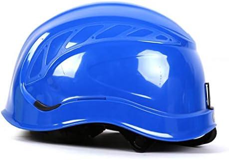 XINGZHE 建設ヘルメット - ABSヘルメット通気工事建設サイト建設キャップ 安全ヘルメット (Color : Blue)