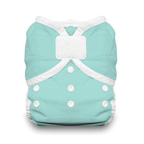 (Thirsties Reusable Cloth Diaper Cover, Hook and Loop Closure, Aqua Size Two (18-40 lbs))