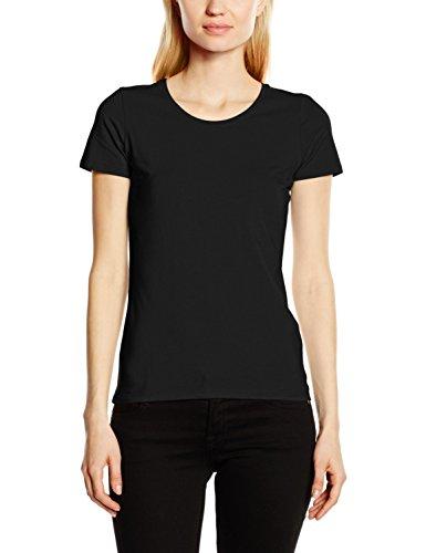 Fruit of the Loom Ss081m, Camiseta para Mujer negro